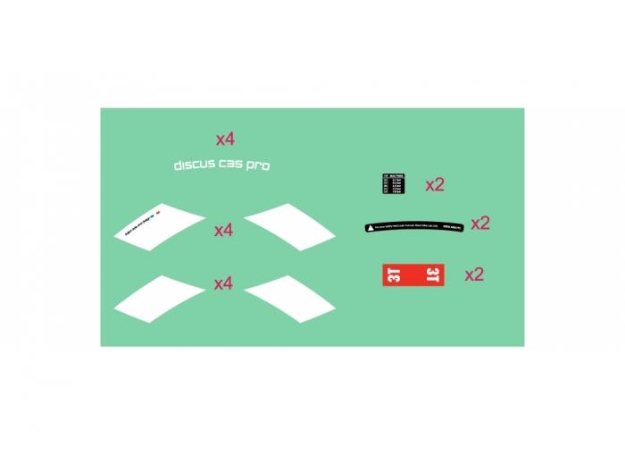 Discus C35 PRO stickers kit