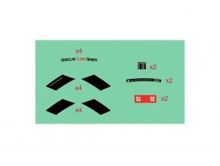 Discus C35 TEAM STEALTH stickers kit