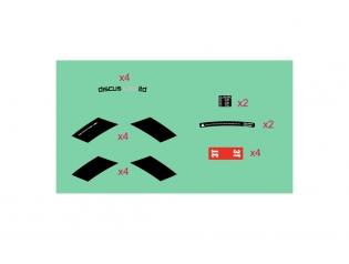 Discus C35 LTD STEALTH stickers kit