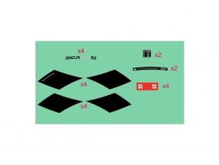 Discus C60 LTD stealth stickers kit