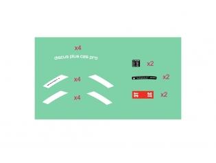 Discus Plus C25 Pro Stickers Kit