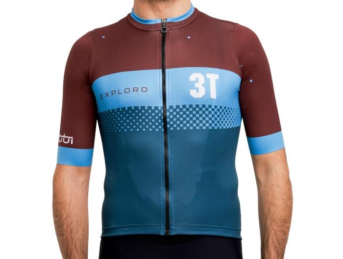3T gravel short sleeves jersey blue/brown